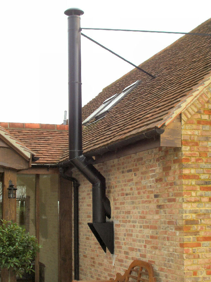 Roof Flue Amp Cleaning Up The Flashing Cone Neck