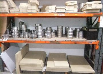 Baffle plates, boilers and fire bricks