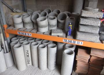 Isokern pumice flue components