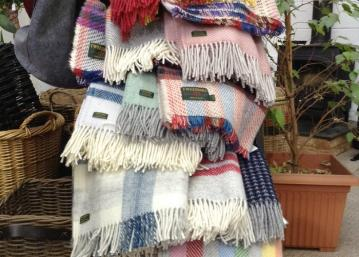 Woollen rugs and throws